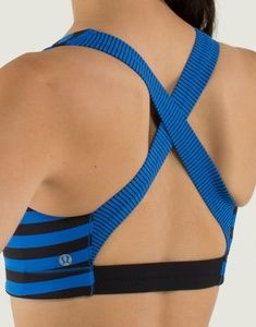 Lululemon in A Flash spor bra striped blue black